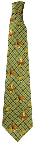 Bisley Silk Tie - Green Grouse (JR-BIT25)